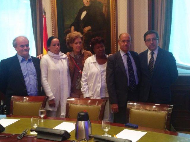 Reunión en el Congreso con las Damas de Blanco
