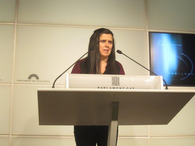 La diputada de la CUP en el Parlament Isabel Vallet