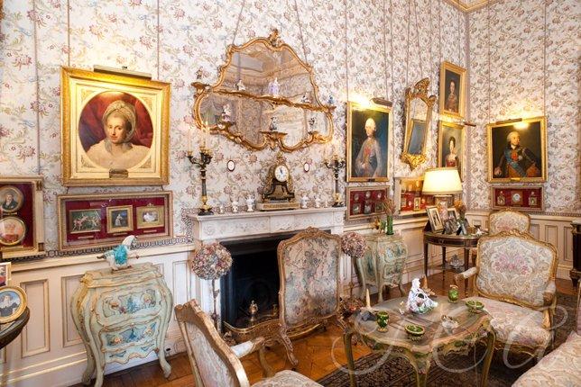 Imagen del interior del palacio de Liria