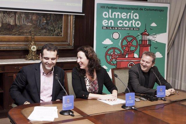 Fernández Pacheco, Vázquez y Serrano, antes de la rueda de prensa