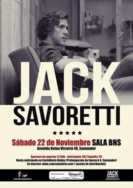 Cartel de la actuación de Jack Savoretti