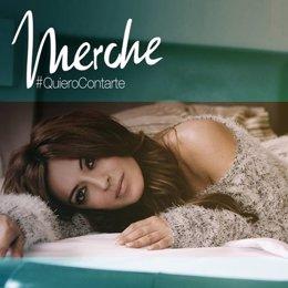 La cantante Merche en una imágen promocional del álbum 'Quiero Contarte'