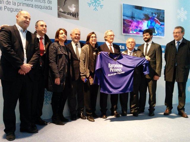 Trias, Recasens y Gasca con representantes de las estaciones de esquí