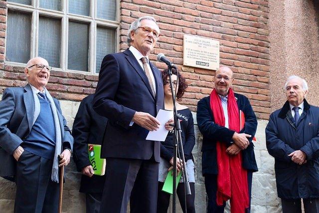 El alcalde Xavier Trias en el 50 aniversario de CC.OO. De Catalunya