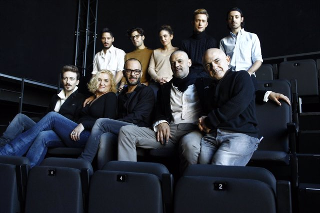 Víctor Clavijo, Ana Wagener, Tomaz Pandur, Roberto Enríquez y Emilio Gavira