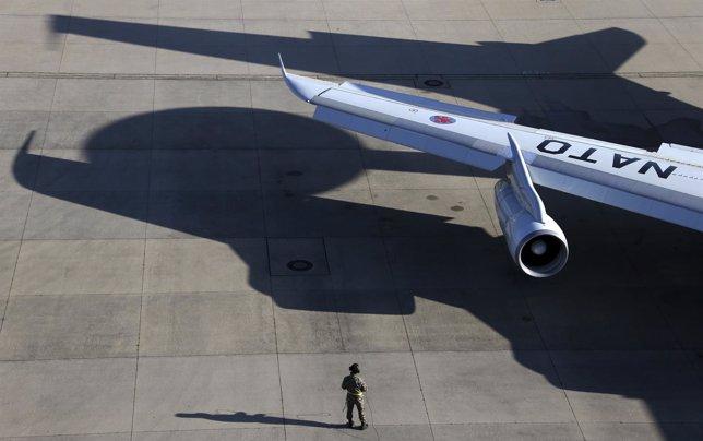Un avión de guerra de la OTAN.