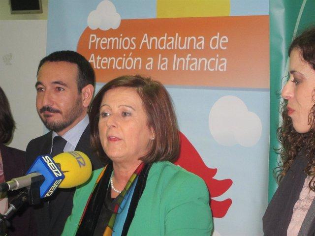 María José Sánchez Rubio en declaraciones a los medios