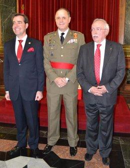 El Ejército reconoce a  Asociación  Los Sitios y a Guillemo Fatás