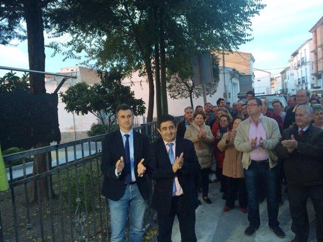 Visita del presidente de la Diputación de Jaén, Francisco Reyes, a Chilluévar
