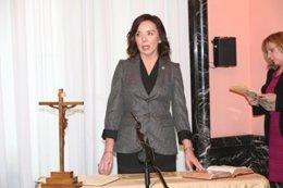 Esther Arizmendi, cuando tomó posesión en Hacienda
