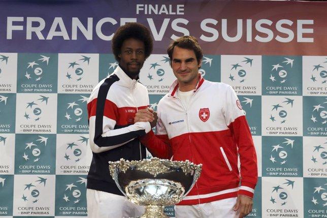 Roger Federer y Gaël Monfils, preparados para la Copa Davis