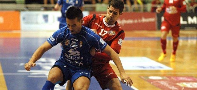 Raúl Campos, en un partido con ElPozo Murcia
