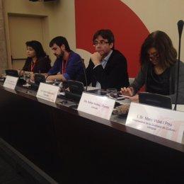 E.Andreu, C.Puigdemont, E.Torrents y R.Palomino