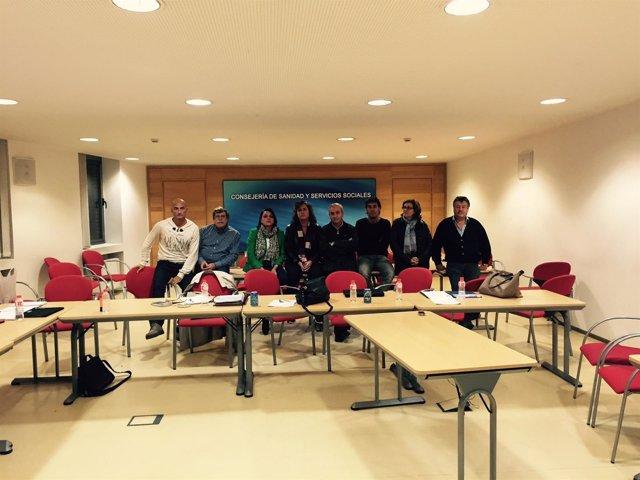 Encierro del comité de huelga del SUAP y 061 en la Consejería de Sanidad