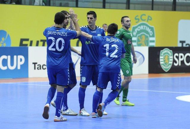 El Inter Movistar vence en la Ronda Élite de la UEFA Futsal Cup