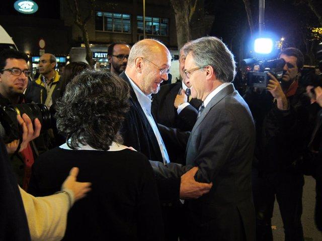 Artur Mas y Joan Carles Gallego