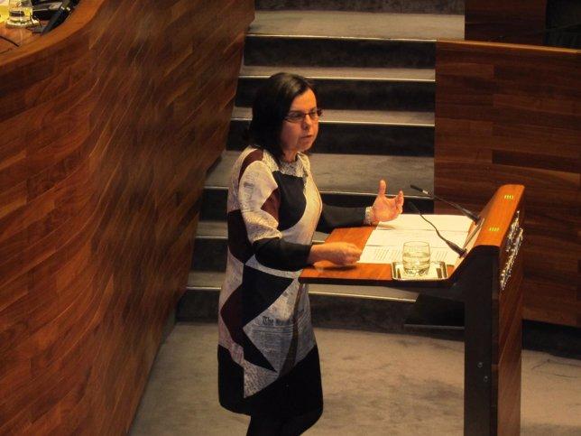 María Jesús Álvarez, en el pleno de la Junta.