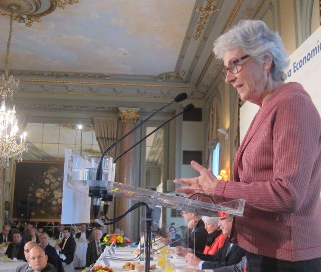 La presidenta de Òmnium Cultural, Muriel Casals.