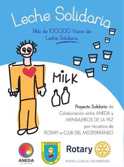Mensajeros de la Paz recibe este sábado dos toneladas de leche en polvo gracias al proyecto 'Leche Solidaria'