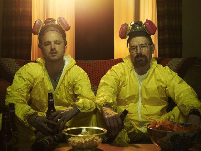 Aaron Paul (Jesse Pinkman) y Bryan Cranston (Walter White) - Breaking Bad