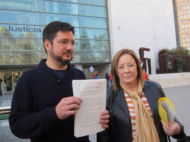 Blanco y Sanz (EUPV) presenta una querella contra cuatro consellers y Castellano