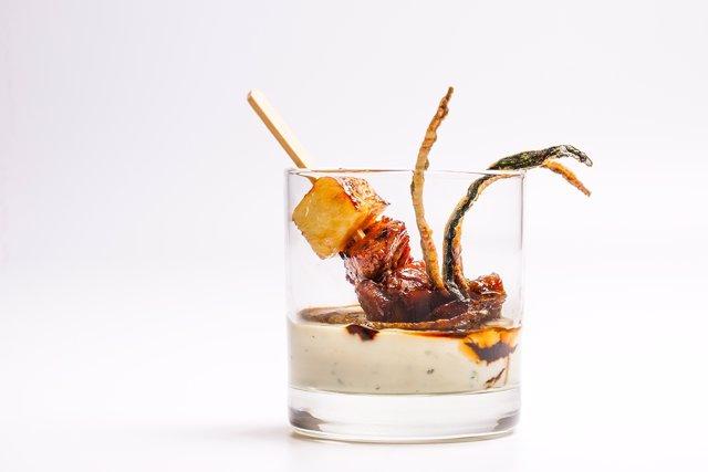Tapa del restaurante La Cigrona, ganadora del Concurso de Tapas de Valencia.