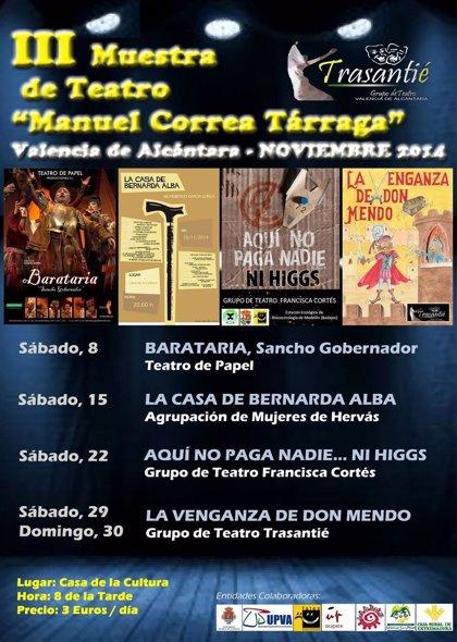 """""""Trasantié"""" ofrece en Valencia de Alcántara """"La Venganza de Don Mendo"""""""