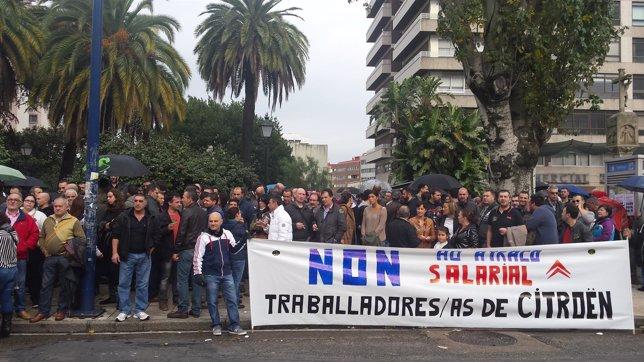 Manifestación convocada por CUT y CIG en Vigo.