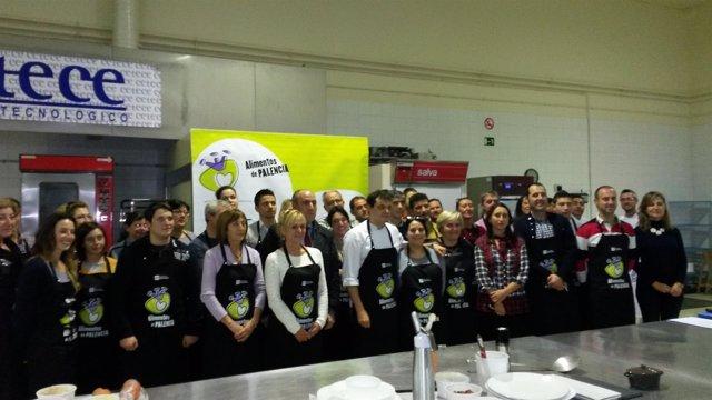 Cocineros en los cursos de la Diputación