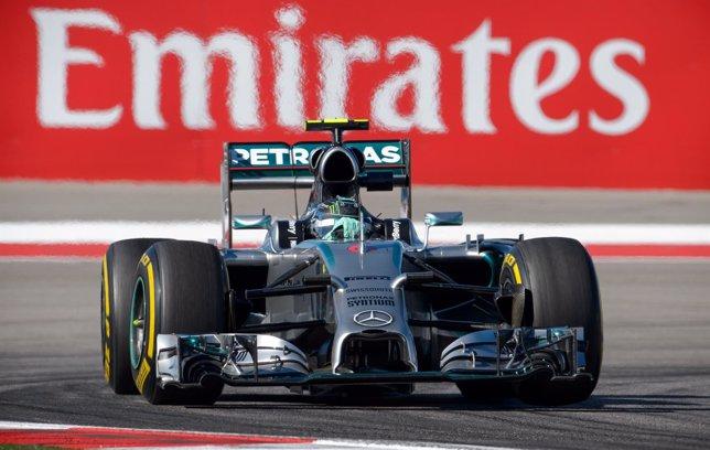 Nico Rosberg en el circuito de Austin