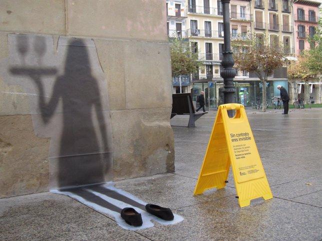 Imagen de una de las sombras de vinilo.