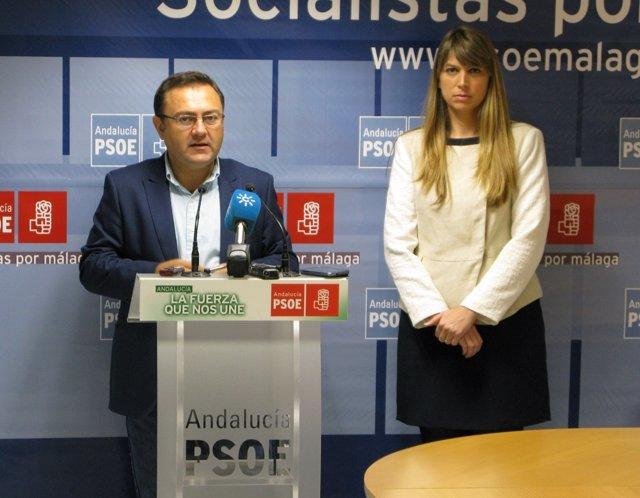 Miguel Ángel Heredia y Estefanía Martín Palop en rueda de prensa