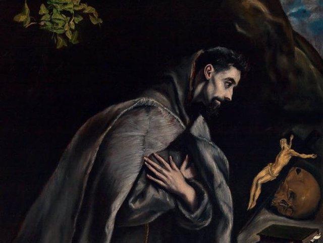 'San Francisco En Oración Ante El Crucificado'