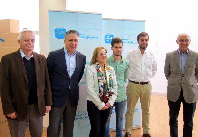 Gutierrez, Burgos, Serrano y Medrano en el Foro de Empleo de NN.GG