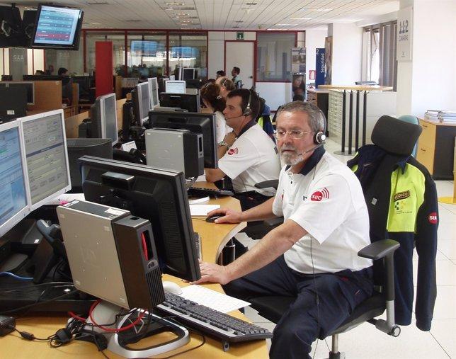 Sala Operativa del Cecoes 1-1-2