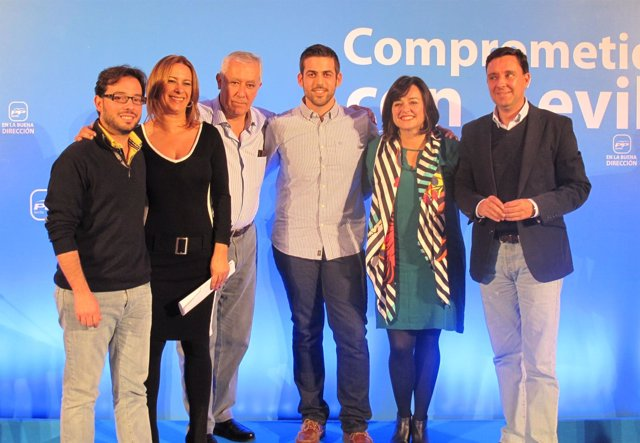 Clausura del Congreso Local del PP de La Rinconada, a cargo de Javier Arenas