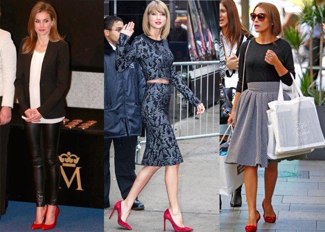 Zapatos rojos letizia paula echavarría taylor swift