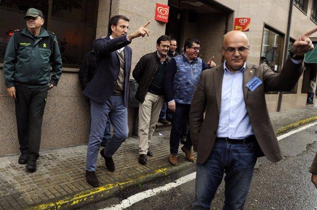 Alberto Núñez Feijóo en Verín con Manuel Baltar