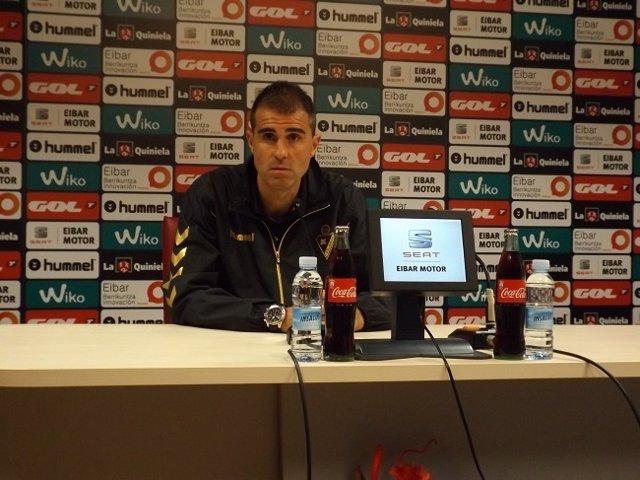 Gaizka Garitano, entrenador del Eibar, en rueda de prensa