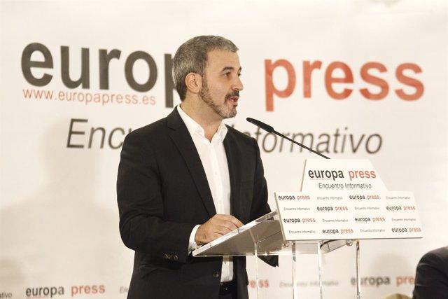 El candidato a la Alcaldía de Barcelona del PSC, Jaume Collboni