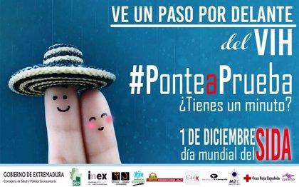 Extremadura. El SES anima a los ciudadanos a sumarse en las redes sociales a la campaña 'Ve un paso por delante del VIH'