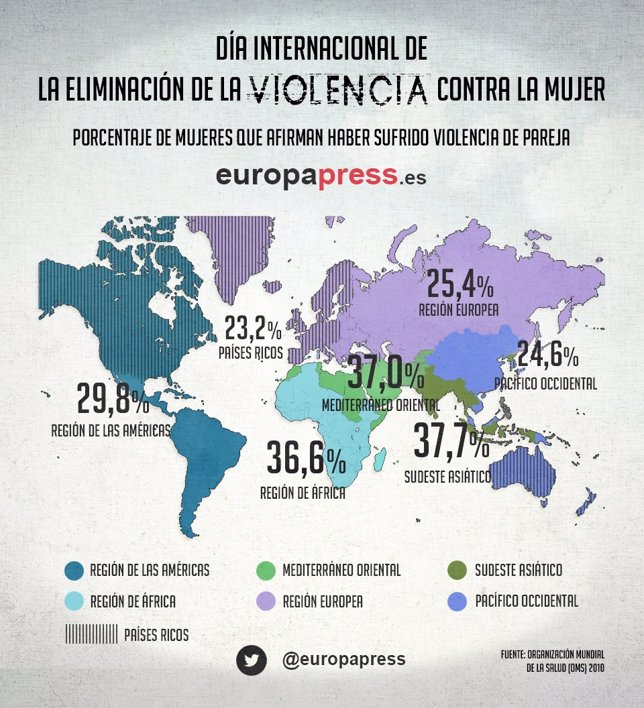 Mapa de la violencia contra la mujer