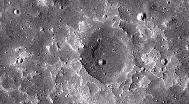 Restos volcánicos enla Luna