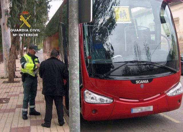 Imagen del conductor de autobús interceptado