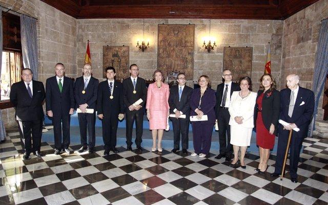 Los premios Jaime I con la Reina Sofía