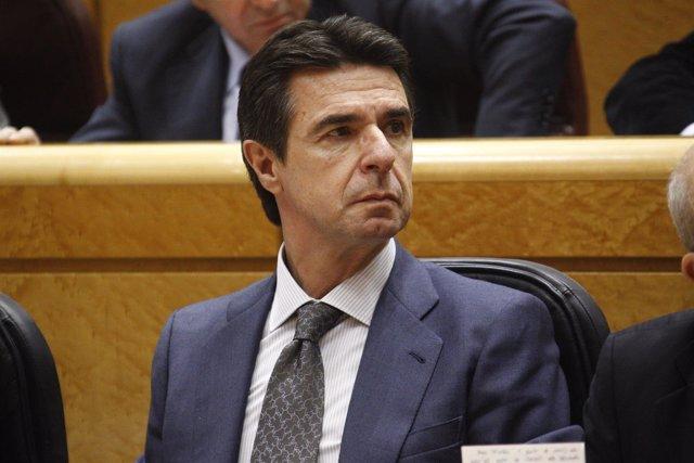 El ministro José Manuel Soria en el Senado