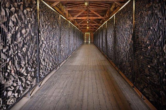 Zapatos de víctimas de campo de concentración nazi de Majdanek