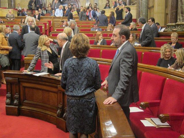 El conseller Ramon Espadaler en el pleno del Parlament