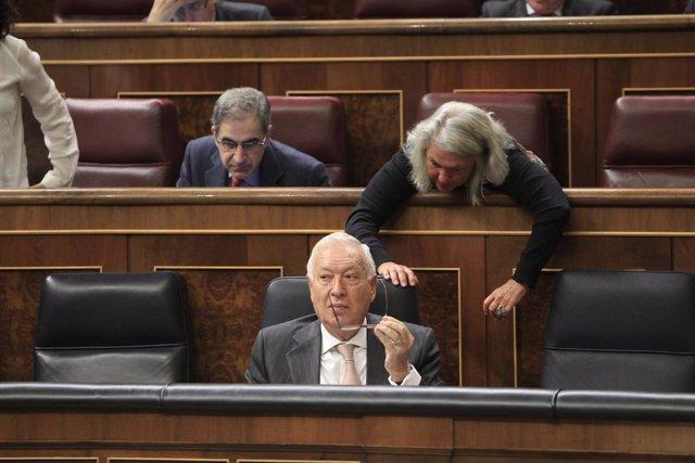 José Manuel García-Margallo,  Beatriz Rodríguez-Salmones y Leopoldo Barreda