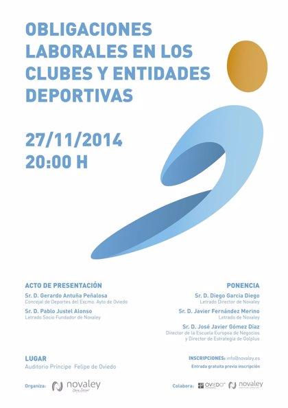 Novaley y Ayuntamiento de Oviedo organizan una jornada sobre Obligaciones Laborales en los Clubes y Entidades Deportivas